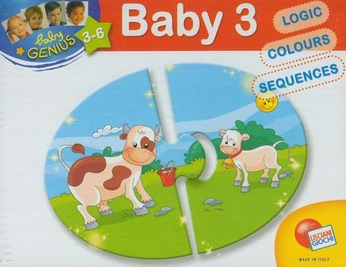 Baby Genius układanka krówka 8x2