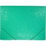 Teczka PP Titanum A4 z gumką, wzory - zielona (302306)