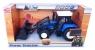 Traktor farmera niebieski