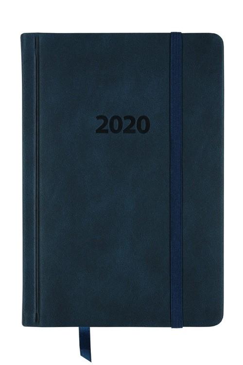 Kalendarz 2020 KK-B6DL Dzienny B6 Lux granatowy