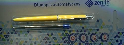 Długopis automatyczny Zenith 5 + wkład oprawa żółta