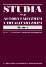 Studia nad autorytaryzmem i totaliryzmem 36 nr 1 Studia nad faszyzmem i