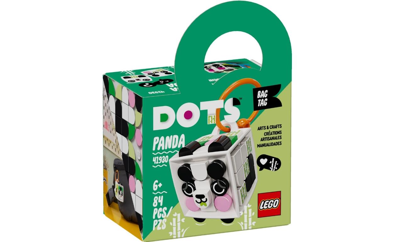 Lego DOTS: Zawieszka z pandą (41930) (Zgnieciony kartonik)