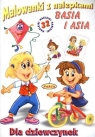 Malowanki z nalepkami. Dziewczynki: Basia i Asia