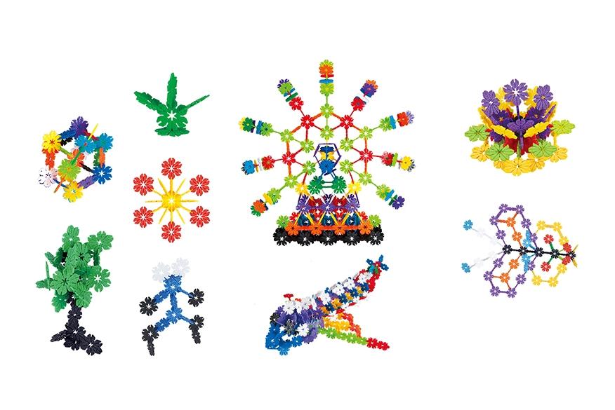 Klocki małych geniuszy - Kwiatki, 140 elementów (109503)