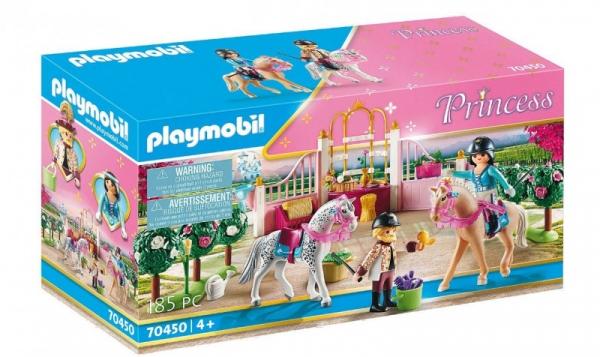 Zestaw z figurkami Princess 70450 Nauka jazdy konnej w stajni (70450)