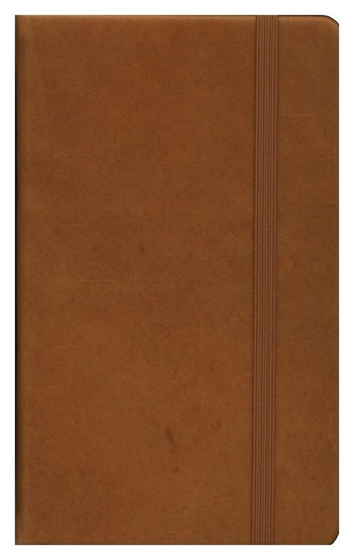 Leather Notebook Pocket brązowy kropki