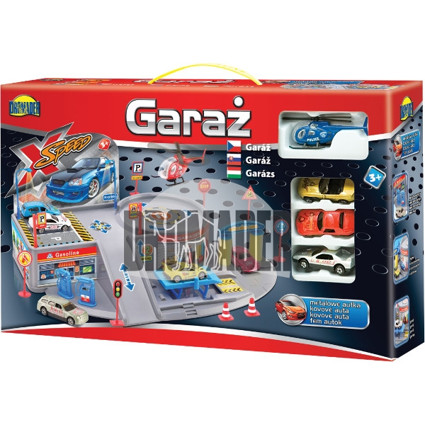 DROMADER Garaż mały z 4 pojazdami (00650)