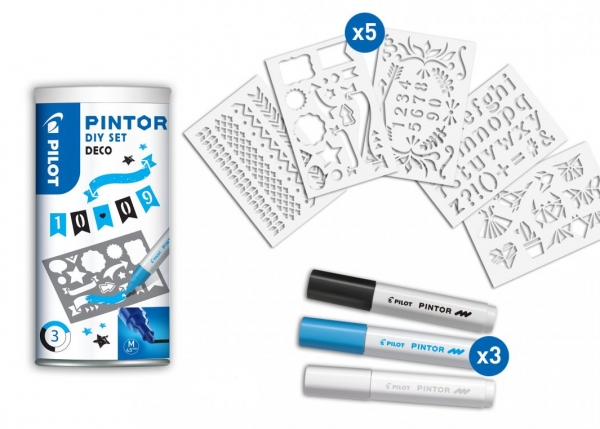 Marker Pintor F SET LB/B/W + szablon