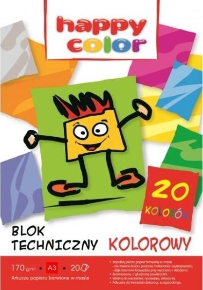 Blok techniczny A3/20 - kolorowy