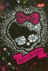 Brulion A6 Monster High w kratkę 96 kartek czacha z sercem