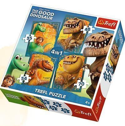 Puzzle 4w1 Dobry Dinozaur (34250)