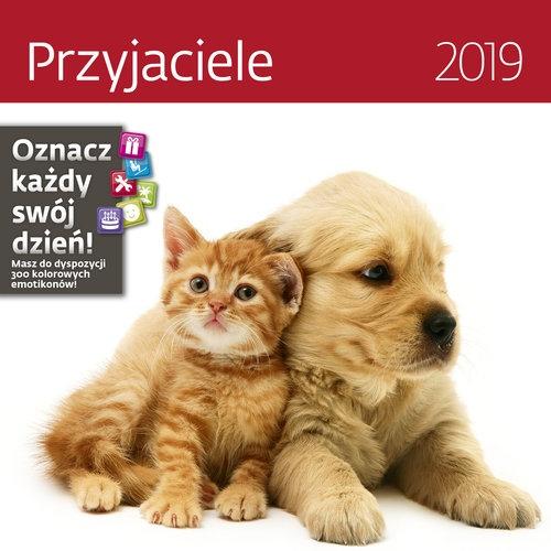 Kalendarz wieloplanszowy Przyjaciele 30x30 2019