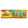Play-Doh Ciastolina 4 tuby kolory tropikalne