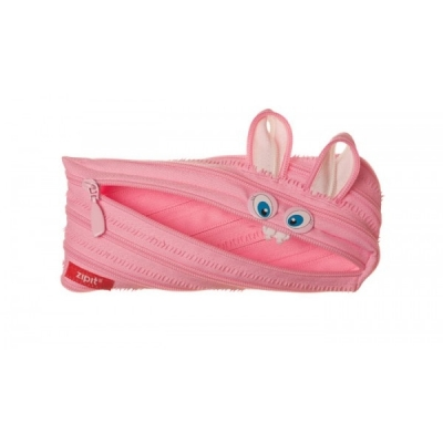 Piórnik Zipit Animals różowy królik .