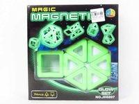 Klocki magnetyczne fluorescencyjne