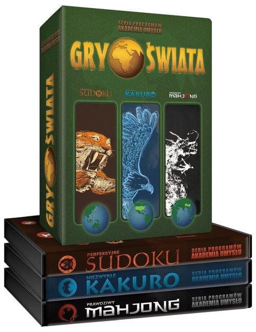 Gry Świata - trójpak (Sudoku, Kakuro, Mahjong)