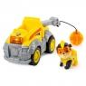 Psi Patrol Mighty Pups: Pojazd buldożer delux + figurka Kosmopiesek Rubble