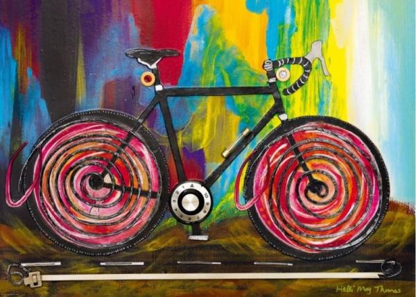 Puzzle 1000 elementów Bike art, Kolarzówka (29950)