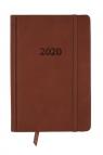 Kalendarz 2020 KK-B6DL Dzienny B6 Lux jasnobrązowy