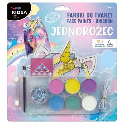 Farbki do twarzy zestaw Jednorożec KIDEA