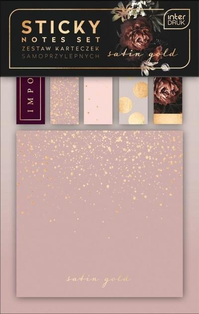 Zestaw karteczek samoprzylepnych Satin Gold mix