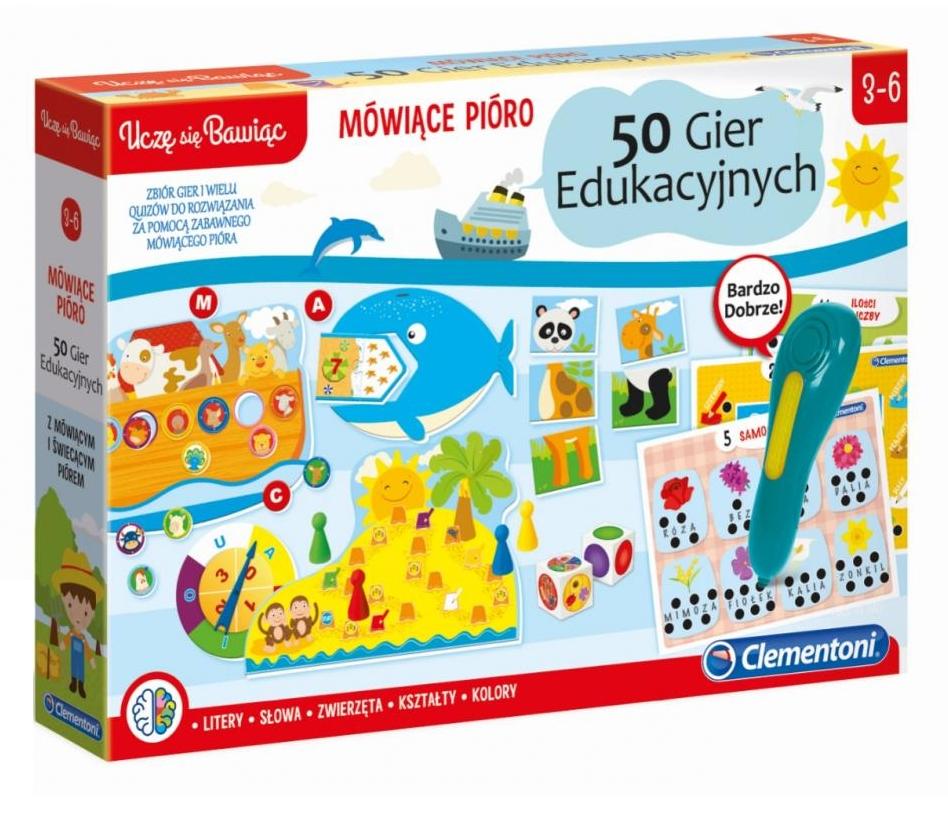 Clementoni, Mówiące Pióro - 50 gier edukacyjnych (50650)