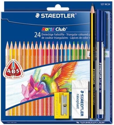 Kredki 24 TRIPLUS+ długopis+ołówek+temperówka + gumka S127NC24SET18