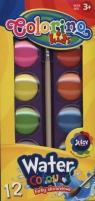Farby akwarelowe Colorino mała pastylka 12 kolorów