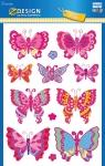 Błyszczące naklejki foliowe, duży format - Motyle (53250)