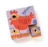 Drewniane klocki puzzle Zwierzęta (DJ01950)