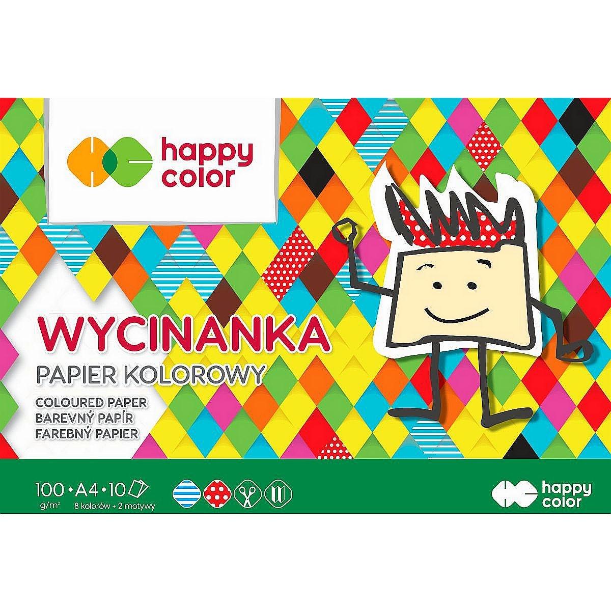 Blok Wycinanka Happy Color A4/10k - kolorowy (433130)