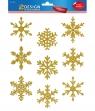 Naklejki foliowe na okno - Złote gwiazdki (52950)
