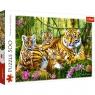 Puzzle 500: Rodzina tygrysów (37350)