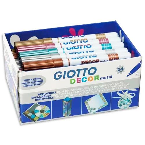 Fila, pisaki Giotto Decormetal - 24 szt.