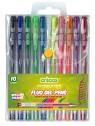 Długopisy żelowe fluorescencyjne Cricco - 10 kolorów (CR816W10)