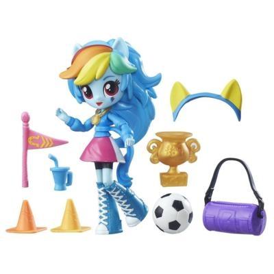 MLP mini lalki Equestria Girl z akcesoriami Rainbow Dash