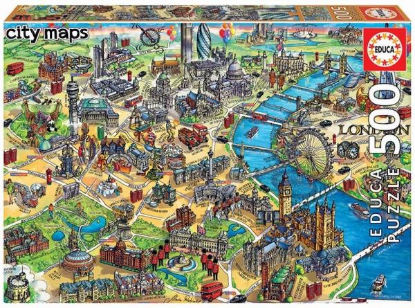 Puzzle 500: Mapa Londynu (18451)