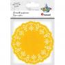 Serwetki papierowe okrągłe 11,5cm/35 szt. - żółte (414549)