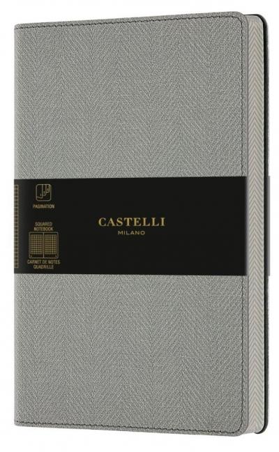 Notatnik 13x21cm kratk Castelli Harris Oyster Grey
