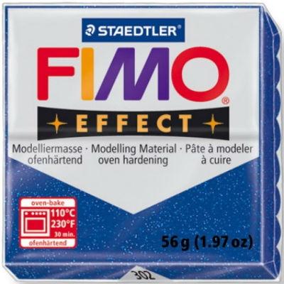 Masa termoutwardzalna Fimo effect niebieska brokatowa (8020-302)