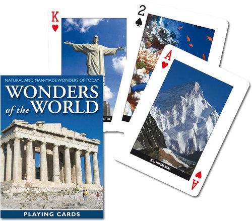 Karty do gry Piatnik 1 talia Cuda świata Acropolis