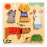 Drewniane Puzzle Relief Zwierzątka (DJ01051)