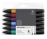Zestaw pisaków Brushmarker Winsor & Newton - Rich Tones, 6 kolorów