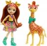 Enchantimals: Lalka Gillian Giraffe + duże zwierzę Żyrafa (FKY72/FKY74)