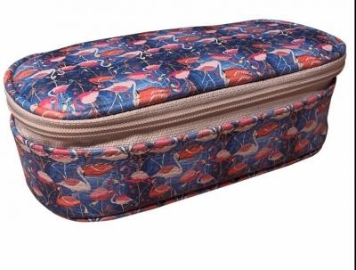 Piórnik box ekoskóra Flamingi PB-07