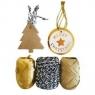 Zestaw do pakowania prezentów złoty