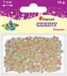 Cekiny okrągłe perłowo-tęczowe białe 7mm 10g.(CO7/319)