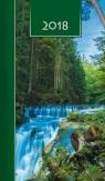 Terminarz 2018 Kolor tygodniowy - wodospad