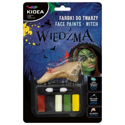 Farbki do twarzy zestaw Wiedźma KIDEA